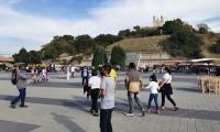 Visitantes aún se resisten a seguir las medidas sanitarias en Parque Soria-Xelhua, Cholula