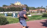 A pesar de decretos continúan haciendo ejercicio al aire libre en las Cholulas