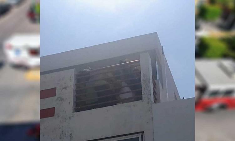 Hombre con covid amenazó con quitarse la vida en Tlaxcalancingo