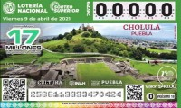 La zona arqueológica de Cholula circula por México en el nuevo billete de lotería