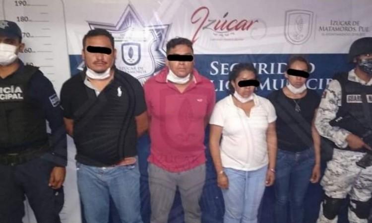 Tras persecución detienen en Atlixco a banda de extorsionadores
