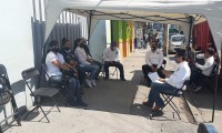 Se suman telefonistas Telmex en Texmelucan a paro nacional