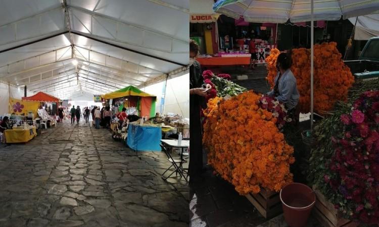 Sufren desplome ventas de Día de Muertos en Tecamachalco, Tepeaca, Huixcolotla