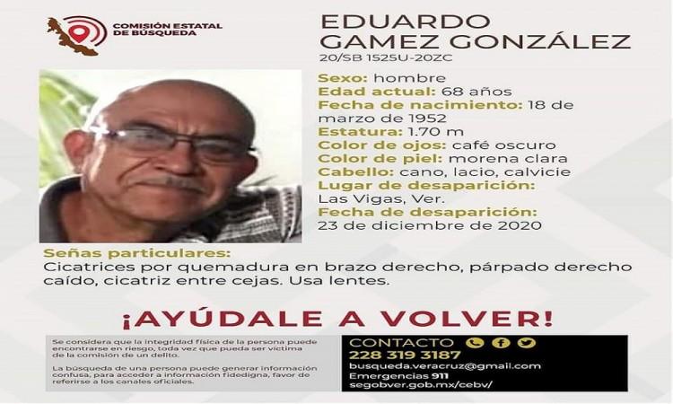 Eduardo Gámez González lleva un mes desaparecido, transportistas piden ayuda para localizarlo