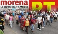 Protestan petistas y morenistas en contra 'imposición' de Pedro Tepole como candidato a la alcaldía de Tehuacán