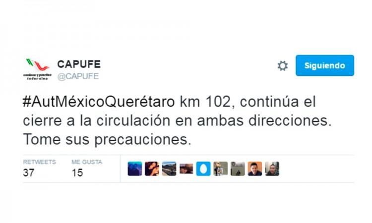 Reportan bloqueos por gasolinazo en la México-Querétaro