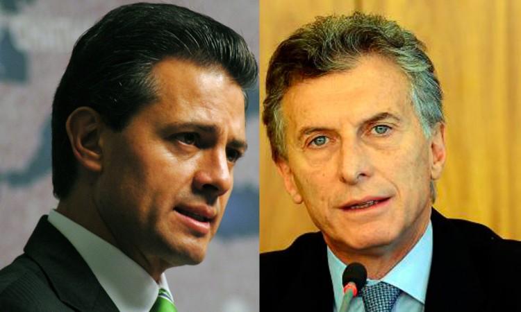Agradece EPN a Macri solidaridad de Argentina contra Trump