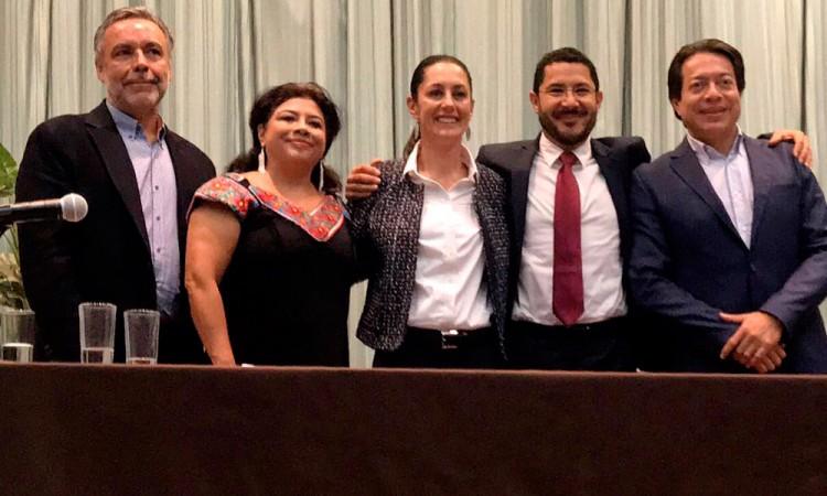 Niega Sheinbaum dedazo en encuesta de Morena en CDMX