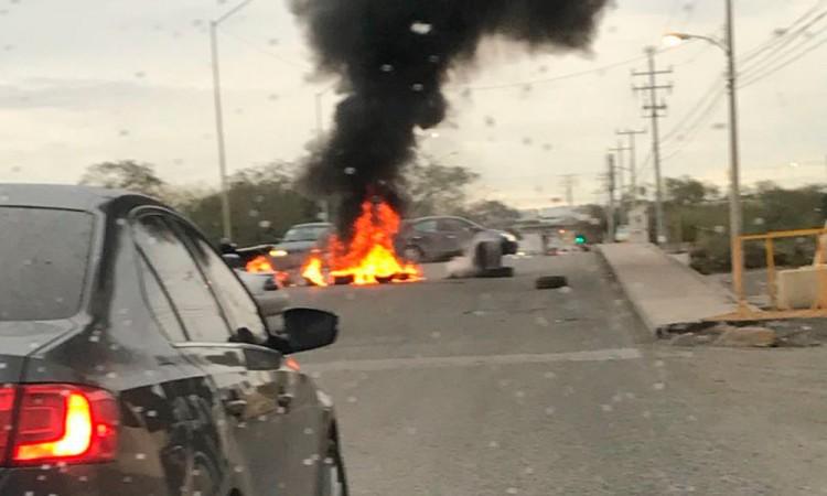 Amanece Reynosa con bloqueos y balaceras