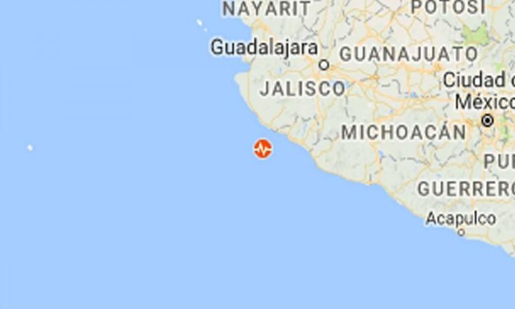 SNN registra sismo de 6 grados en Jalisco