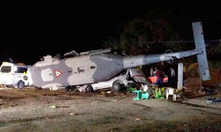 CNDH vigilará atención por desplome de helicóptero