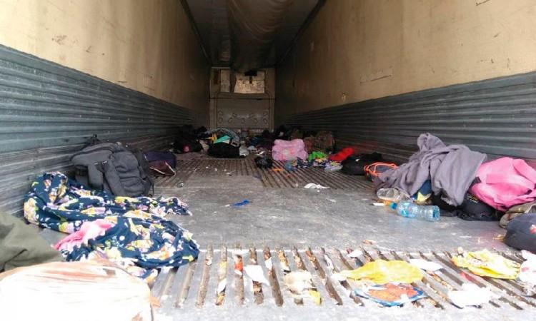 Recatan 103 migrantes encerrados en Tamaulipas