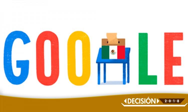 Google dedica su doodle a las elecciones celebradas en México