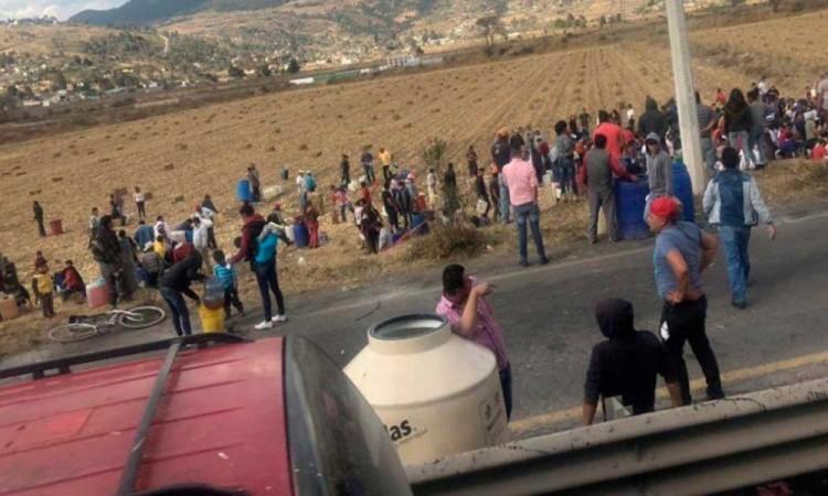 VIDEO: Pobladores de Acambay, Edomex abren toma clandestina