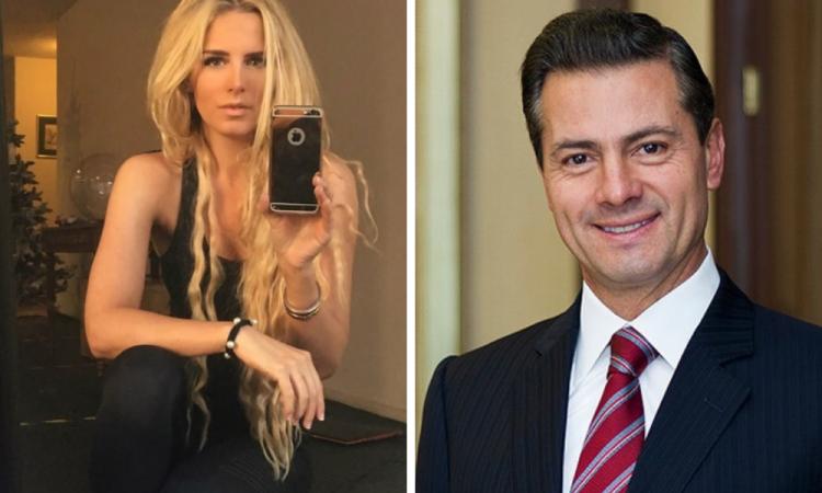 Captan a Peña Nieto con una modelo de Madrid
