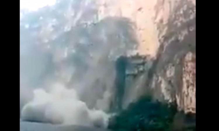 Captan en video derrumbe en el Cañón del Sumidero