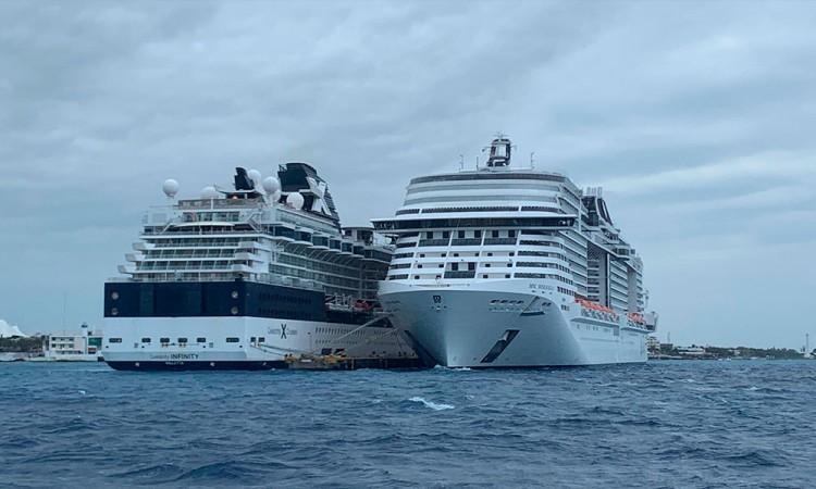 Crucero sigue frente a Cozumel esperando permiso de desembarque