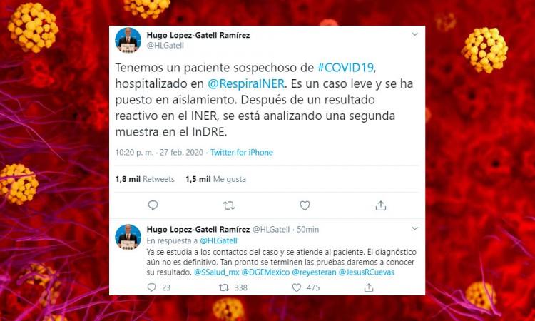 Salud teme por primer caso de coronavirus en México