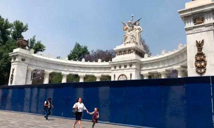 En CDMX resguardan monumentos ante eventuales marchas por #8M