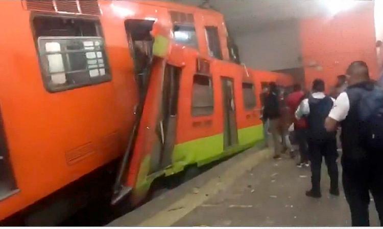 Choque en metro en la CdMx deja un muerto y 41 heridos