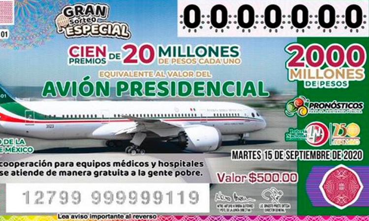 Los cachitos para la rifa del avión presidencial llegan a 29 estados