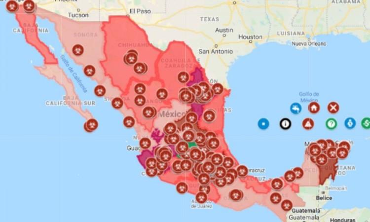 Con este mapa puede ubicar los contagios de coronavirus