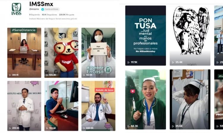 Usando TikTok, IMSS busca prevenir el coronavirus