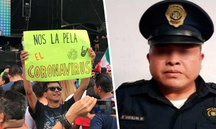 Policía muere por COVID-19; resguardó el Vive Latino