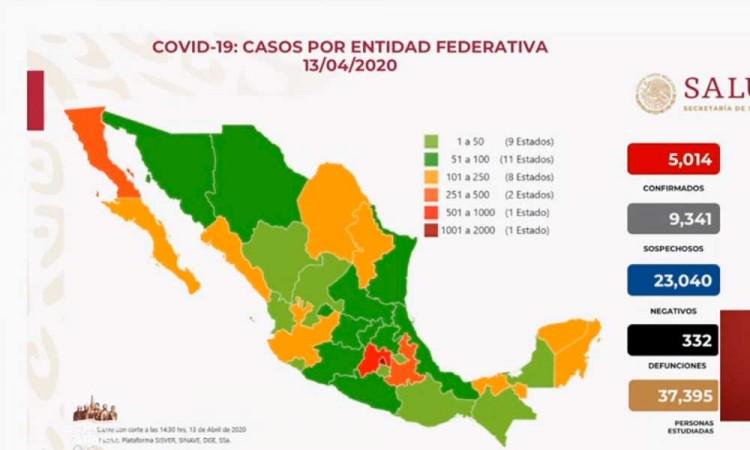 México llega a los 5 mil contagios de COVID-19