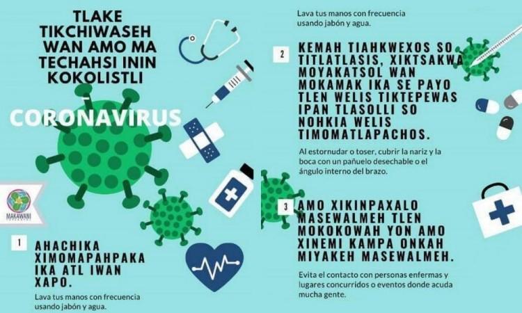 Difunden en lenguas indígenas medidas de prevención ante coronavirus
