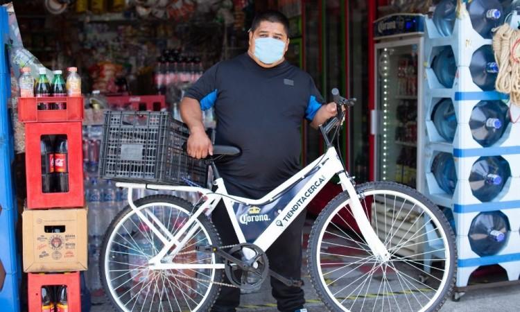 Corona se luce, donará bicicletas para entregas a domicilio
