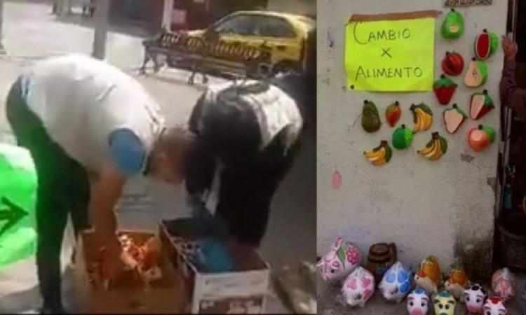 Artesanos cambian piezas por despensa; inspectores las decomisan