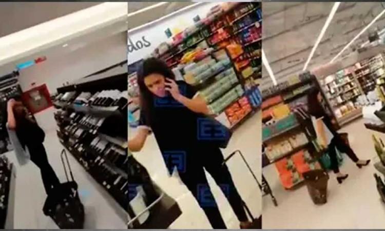 Captan a Luisa María Alcalde sin cubrebocas en el supermercado