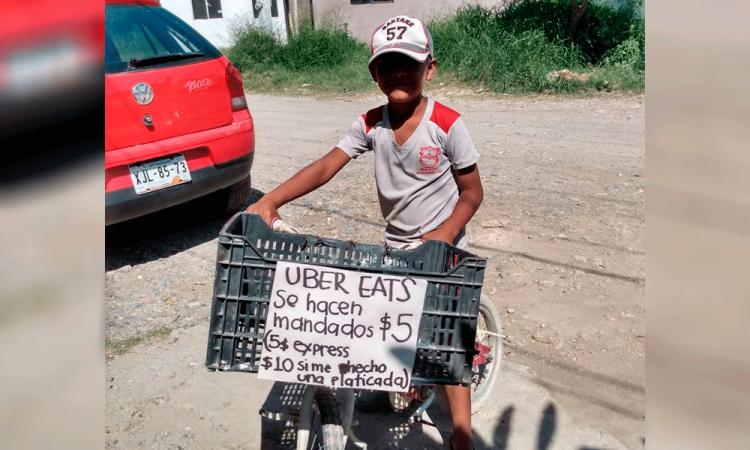 Viral: Menor  ofrece hacer mandados por 5 pesos; desea comprar una bicicleta