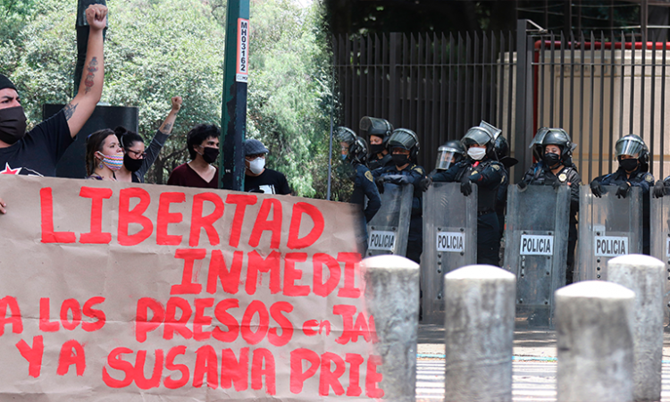 Policías buscan prevenir violencia en protestas en CdMx