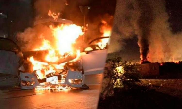 Riña entre sicarios deja incendios en Caborca, Sonora