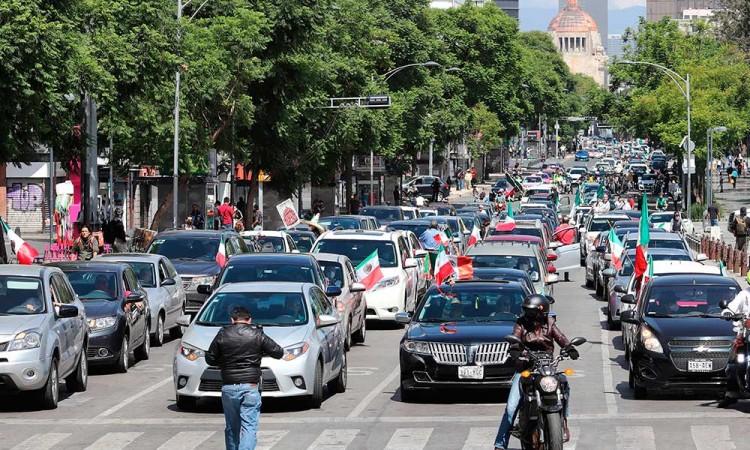 Otra vez organizan caravana anti-AMLO en Ciudad de México
