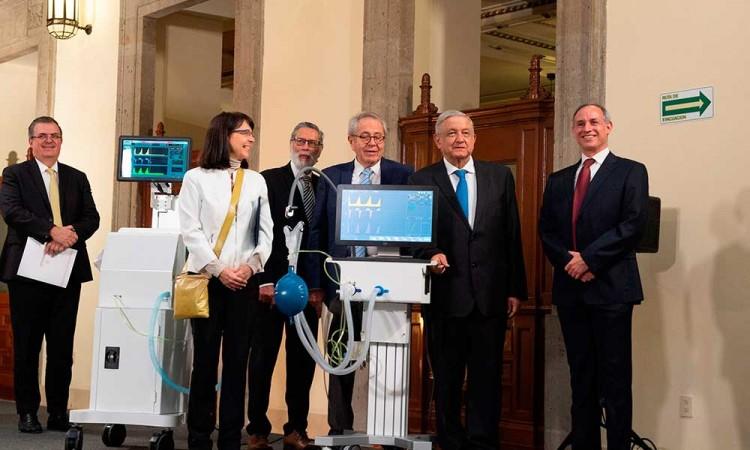 Conacyt presenta primeros ventiladores hechos en México