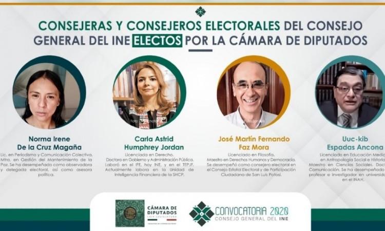 Diputados eligen a los cuatro nuevos consejeros del INE