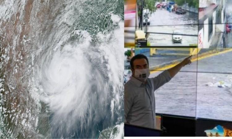 """Colocan en Monterrey equipo de prevención para las contingencias por huracán """"Hanna"""""""