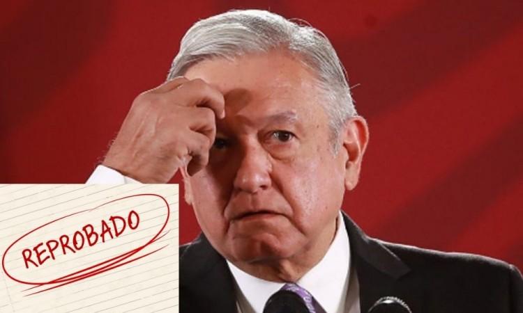 Mexicanos reprueban a AMLO por no usar cubrebocas