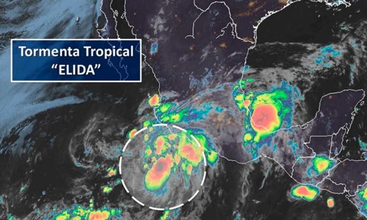 La tormenta Elida se acerca con fuerza a las cosas de Michoacán y Guerrero