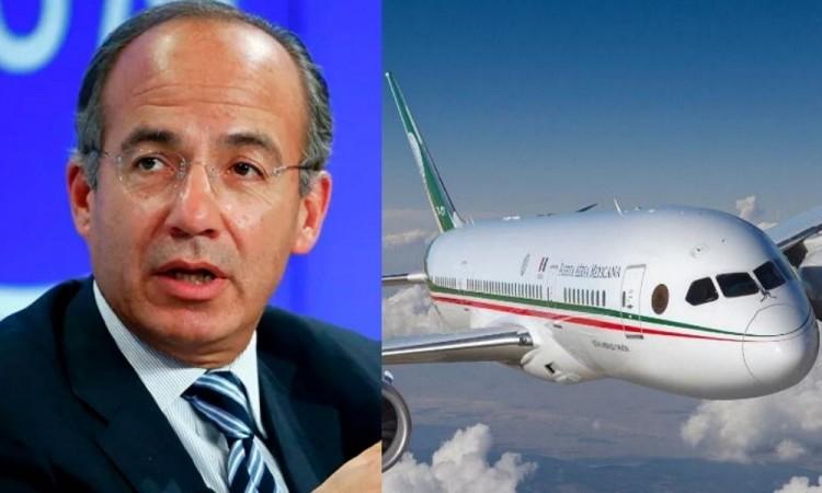 Reprocha Felipe Calderón la rifa del avión presidencial a AMLO