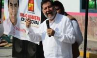 """Agreden a """"huevazos"""" a Fernández Noroña en Hidalgo"""