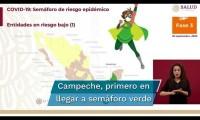 Campeche es el primer estado de México con semáforo covid en verde