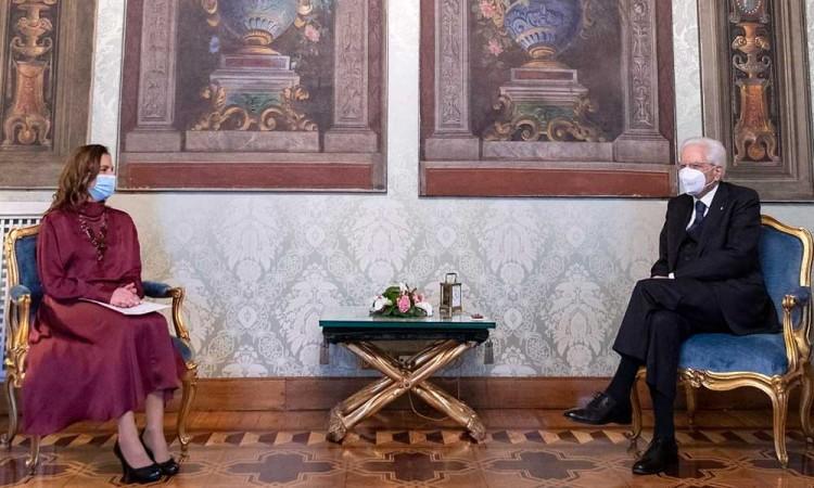 Gutiérrez Müller anda de visita en Roma con el presidente Sergio Mattarella