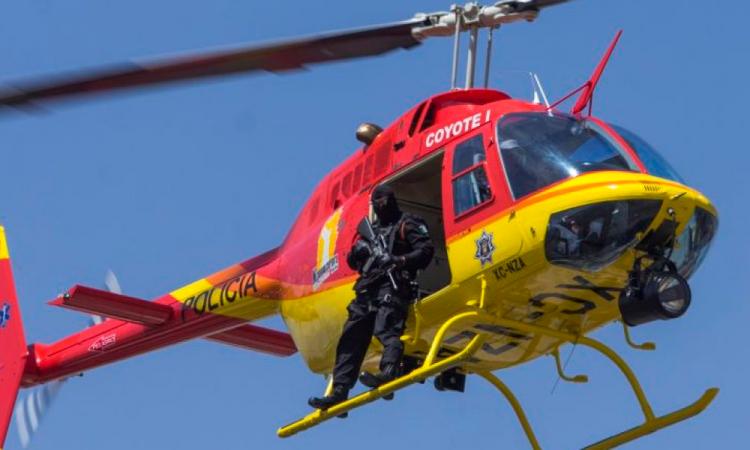 Hasta dos persecuciones por semana hace helicóptero