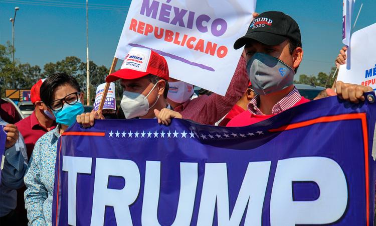 Simpatizantes republicanos arman 'rally' en favor de Trump en México
