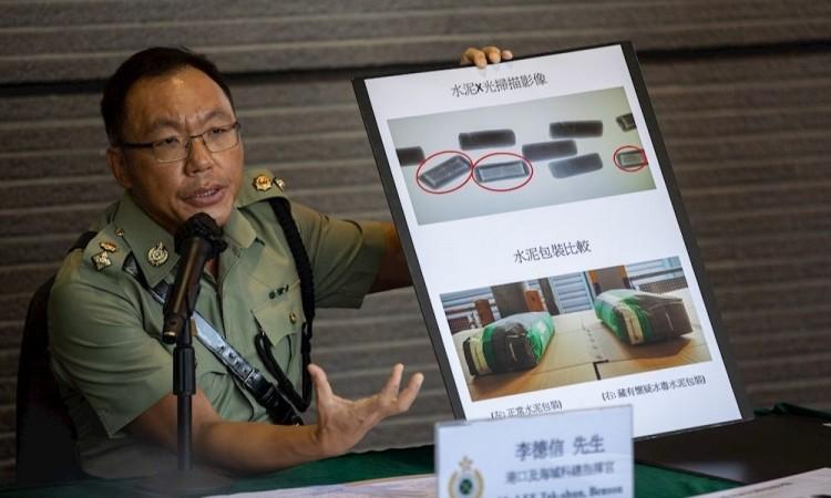 Hong Kong incauta su mayor alijo de metanfetaminas procedente de México