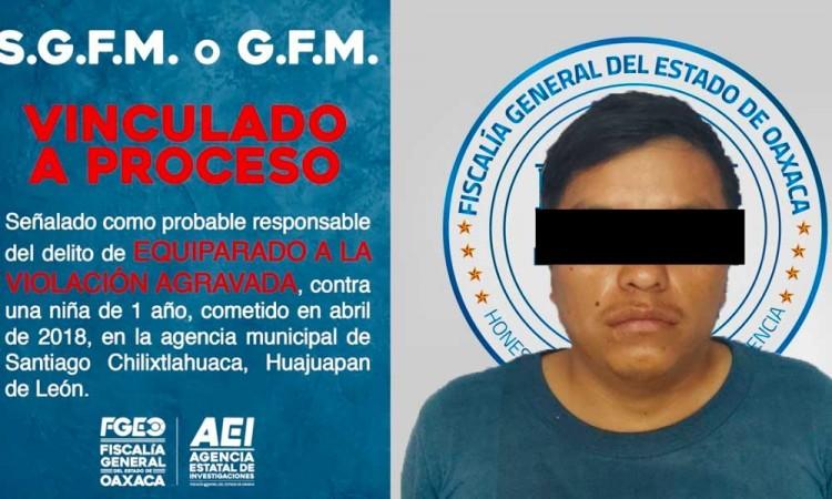 Detienen a sujeto por violar a niña de 1 año en Oaxaca